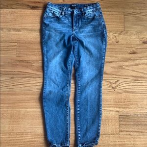 Nine West cigarette high rise skinny jeans 8P